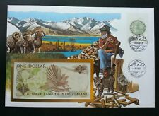 New Zealand Daily Life 1992 Kiwi Cat Sheep Mountain (banknote cover)