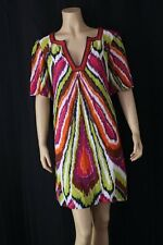TRINA TURK LA shift Dress 100% Silk Sz 8 Multicolor