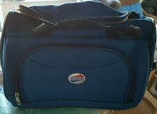 American Tourister Blue Carry On Luggage Bag w/ Large Front Pocket Vinyl