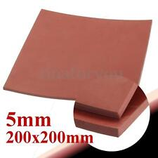 """Red 5mm 1/5"""" Thickness 8""""x8"""" Square Rubber Sheet Chemical Resistance High Temp"""