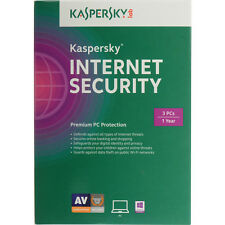 Kaspersky Internet Security 2016 3PCs Key Card Brand New Free Shipping