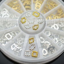 11 Styles Gold / Silver 3D Nail Art Glitters Beads DIY Decorations Craft #S117