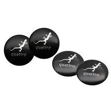 4pcs 56.5mm Gecko Car Steering Wheel Center Hub Cap Stickers for Audi Quattro