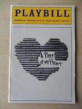 October 1991 - Manhattan Theatre Club Playbill - A Piece Of My Heart - Carle