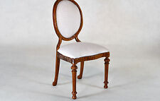 Dollhouse Miniature 1:12 Scale Walnut Upholstered Side Chair #4061WN