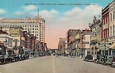Market Street Along the Dixie Highway in Chattanooga TN Postcard