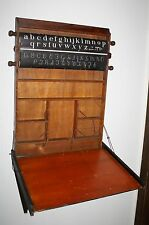 Antique 1885 CHAUTAUQUA DRAWING BOARD Desk, Great Scrolls of Art, History, Math