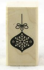 Snowflake Ornament Wood Mounted Rubber Stamp Hero Arts NEW winter christmas art