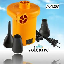 Soleaire SA-101P Turbo Electric Inflator Inflatable Air Pump for Bed Mattress...