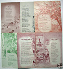 Barton Rees Pogue Poetry --Six Poems and Art -- from 1950's Magazines...
