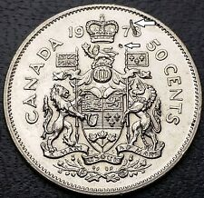 1978 Canada 50 Cents Half Dollar **Defective Planchet Error Coin** Great Detail
