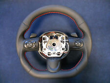 Steering Wheel BMW Mini Cooper R55 R56 R57 R58 R59 Leather Flat Bottom paddle