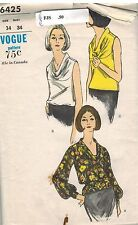 6425 UNCUT Vintage Vogue Sewing Pattern Misses Overblouse Softly Draped Yolk 14