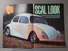 EX Magazine Poster Picture: Custom VW Beetle Cal Look Custom Modified