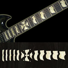 Hetfield Iron Cross (WHITESILVER) Fret Markers Inlay Sticker Decal Guitar