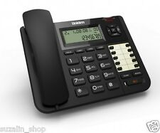 Uniden AT 8502 2 Line CLI Corded Landline Speaker Phone - Black