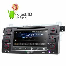 """GA6150F 7"""" Android 5.1 Car Stereo DVD Player GPS NAV Touch Screen for BMW E46 W"""