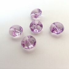 Baby Buttons translucent LILAC dome small cute perfect for all crafts x10