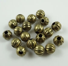 100pcs Bronze Tone Pumpkin Spacer Beads For Jewellery Finding 4mm