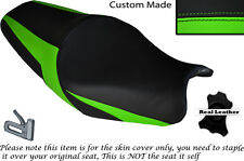 DESIGN 2 GREEN CUSTOM FITS KAWASAKI ZZR 1400 ZX14R 12-14 LEATHER SEAT COVER