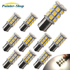 10 X Warm White 27SMD LED 1156 1141 RV Camper Trailer Interior Light Bulbs 1003