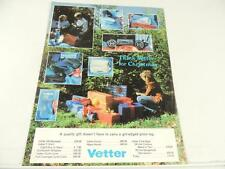 Vintage Vetter Motorcycle Apparel Brochure T-Shirts Hippo Hands Totes L2228