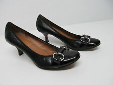 TAHARI MISTY WOMENS SHOES PUMPS HEELS BLACK LEATHER SIZE 8 M