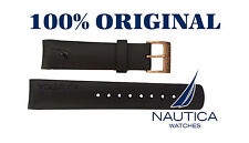 NAUTICA REPLACEMENT BAND BLACK 100% ORIGINAL GOLD BUCKLE N18523 N20065 N22528