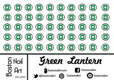 Green Lantern Waterslide Nail Decals  - 50 PC - BNA-20006
