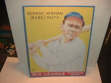 "New York Yankees Babe Ruth Big League Gum Advertising 15"" x 12"" Metal Sign"