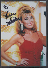 Vanna White, American Television Personality, signed 3½x5 color photo