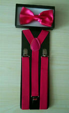 Suspender and Bow Tie Sets for Tuxedo Wedding Suit -Ship from US