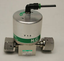 CKD AGD21V-6R 8A12-0096 Air operated valve, process gas Normally Closed VCR