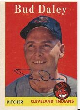 Cleveland Indians BUD DALEY Signed 1958 Topps Card