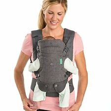 Infantino Flip Advanced 4-in-1 Convertible Baby Carrier Light Gray Grey 8-32lb