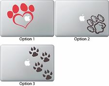 Paw Print Cat Dog Sticker Apple Mac Book Air/Pro Dell Laptop Decal Car Truck