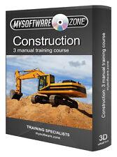 Aprende Construcción 3 Manual curso de formación Cd aprender Builder Equipo Pesado Pc