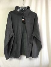 NWT Big Men's Large & In Charge Polar Fleece Zip Up Jacket Size 6XL Grey #138P