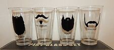 MANCAVE MUST~CRAFT BEER PINT GLASS SET~PERSONALIZED WITH BEARDS~A1 HOLIDAY GIFT