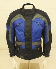 DiFi High-Quality Padded Blue & Black Motorcycle Jacket Men's Small GREAT LOOK