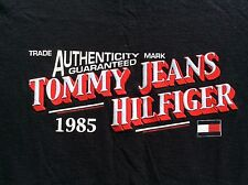 TOMMY HILFIGER authenticity guaranteed Tommy Jeans 1985 Navy blue t Shirt sz XL