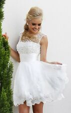 SHORT WHITE WEDDING DRESS. HANDMADE. SIZE 2/4/6/8 IN STOCK AND READY TO SHIP.