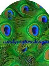 20 FULL NAIL COVER WATERSLIDE TRANSFERS PEACOCK FEATHERS Trending