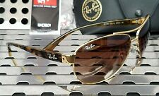 New Ray Ban RB3386 001/13 Aviator Sunglasses Gold-Tort Frame w/ Bronze Gradient
