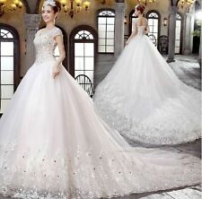 New Lace White/Ivory Wedding Dress Bridal Gown Size 6 8 10 12 14 16 18+++