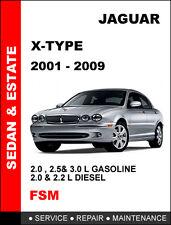 2001 2002 2003 2004 2005 2006 2007 2008 2009 JAGUAR X TYPE SERVICE REPAIR MANUAL