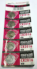 5 pc  Maxell  CR2016  2016  3 V  Batteries  Japan  Very Fresh !~~~~