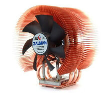 Zalman Ultra Quiet Cpu Cooler Intel Copper Heatsink Gaming build fan heatpipe
