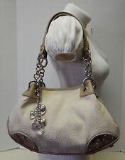 Kathy Van Zeeland Signature Jacquard Shoulder Bag Handbag Purse w/Charms