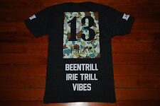 """NEW Been Trill #BEENTRILL """"Irie Trill Vibes"""" Camo Graphic T-shirt (Medium)"""